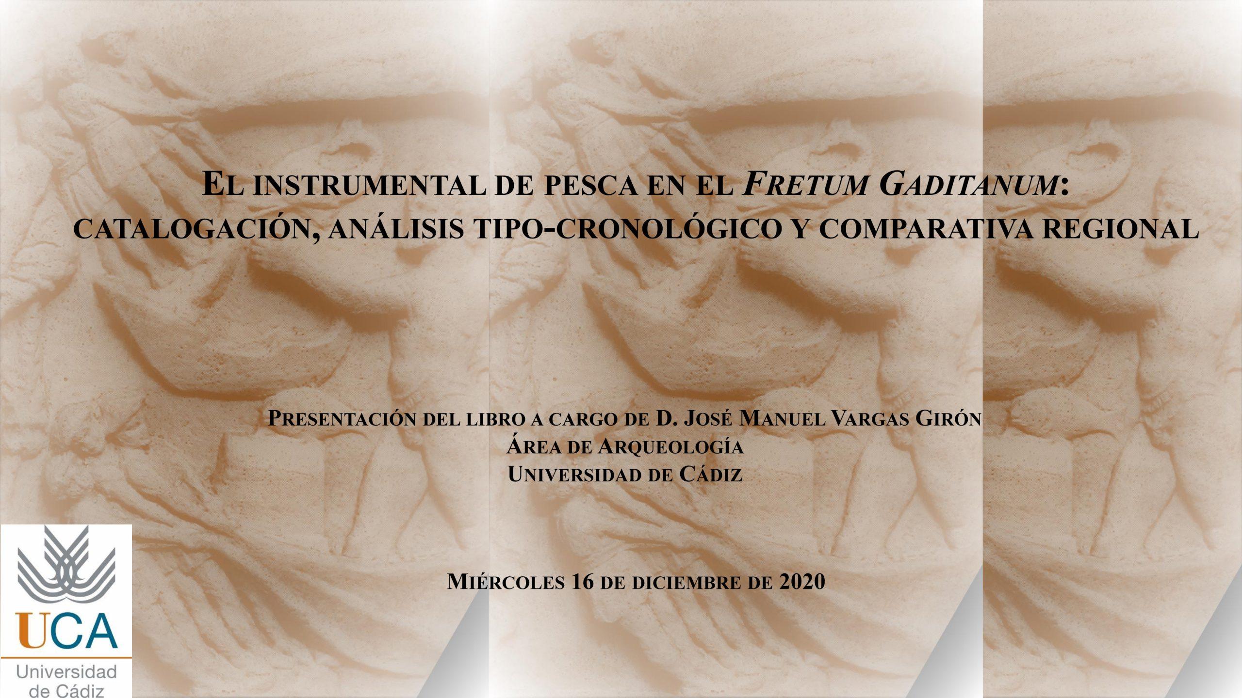 Presentación del libro El instrumental de pesca en el Fretum Gaditanum